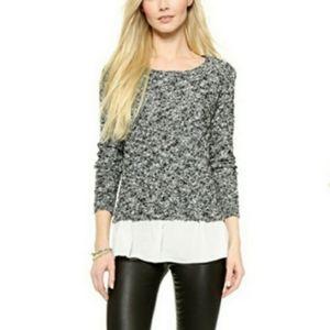 5/$35 Aeropostale brindle black white shimmer sweater